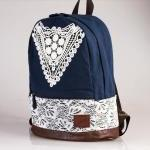 Cute Canvas Backpack With ..
